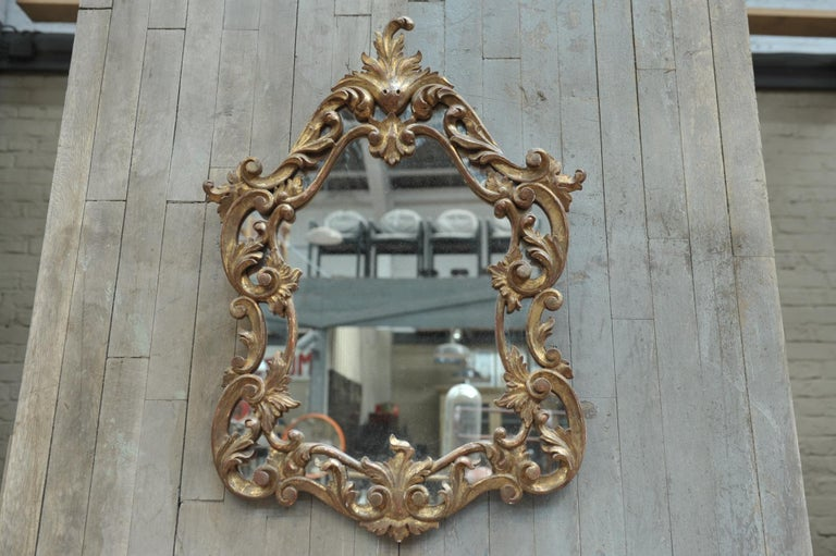 Set of Giltwood Console Table and Mirroir Louis XV's Style, circa 1960 4