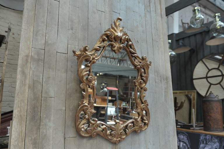 Set of Giltwood Console Table and Mirroir Louis XV's Style, circa 1960 In Good Condition In Roubaix, FR