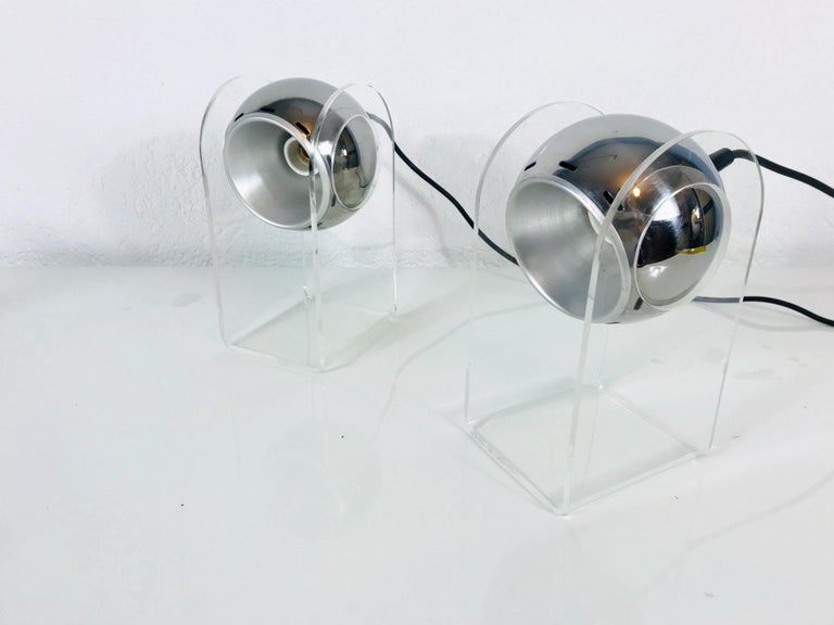 Set of Gino Sarfatti Table Lamps Model 540P for Arteluce, Italy, 1968 For Sale 1