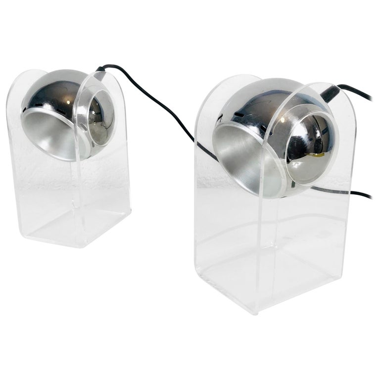 Set of Gino Sarfatti Table Lamps Model 540P for Arteluce, Italy, 1968 For Sale