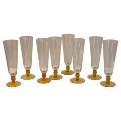 Set of Glass Beer Pilsners