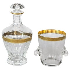 Set of Glass Carafe/Decanter and Ice Bucket Concord Collection by Theresiethal