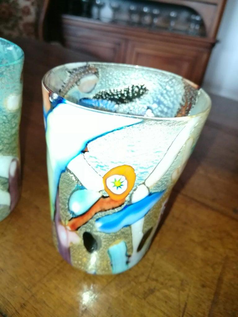 "Murano Glass Set of ""goti de fornasa"" Glasses For Sale"
