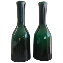 Set of Green Holmegaard Vases, 1970s