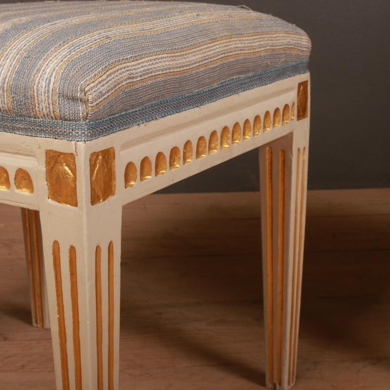 Set of Gustavian Stools In Good Condition For Sale In Leamington Spa, Warwickshire