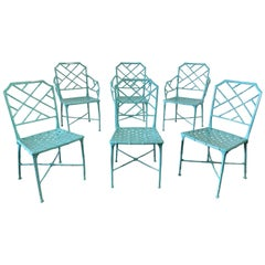 "Set of Hall Bradley ""Calcutta"" Dining Patio Chairs for Brown Jordan, 1967"