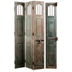Set of Hardwood Folding Doors / Shutters, 20th Century