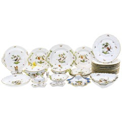 Set of Herend Rothschild Bird Porcelain