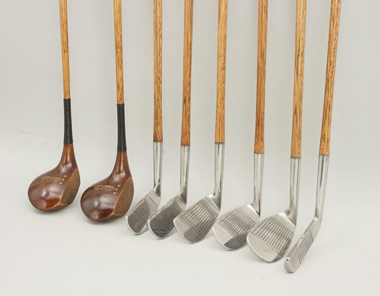 Set of Hickory Golf Clubs by Gibson of Kinghorn, Fife, Scotland For Sale 5