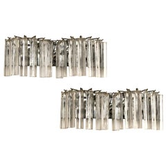 Set of Horizontal Venini Glass Sconces, Sold per Pair