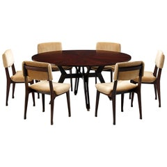 Set of Ico Parisi Dining Table and Six Dining Chairs for MIM
