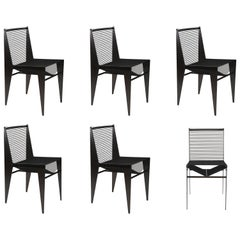 Set of  6 ICON Chairs in Steel & Rope by Christopher Kreiling ***New Lower Price