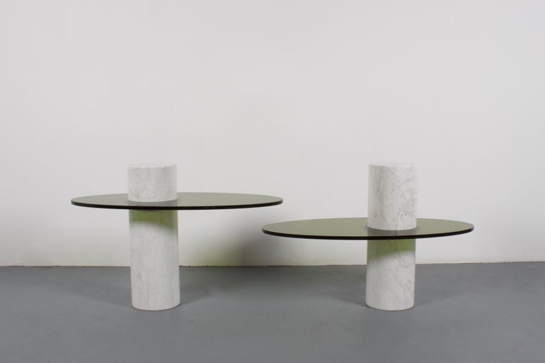 Space Age Set of Impressive Italian Lucite and Marble Tables, 1970s For Sale