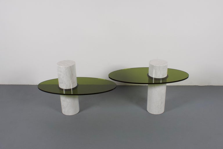Set of Impressive Italian Lucite and Marble Tables, 1970s In Excellent Condition For Sale In Echt, NL
