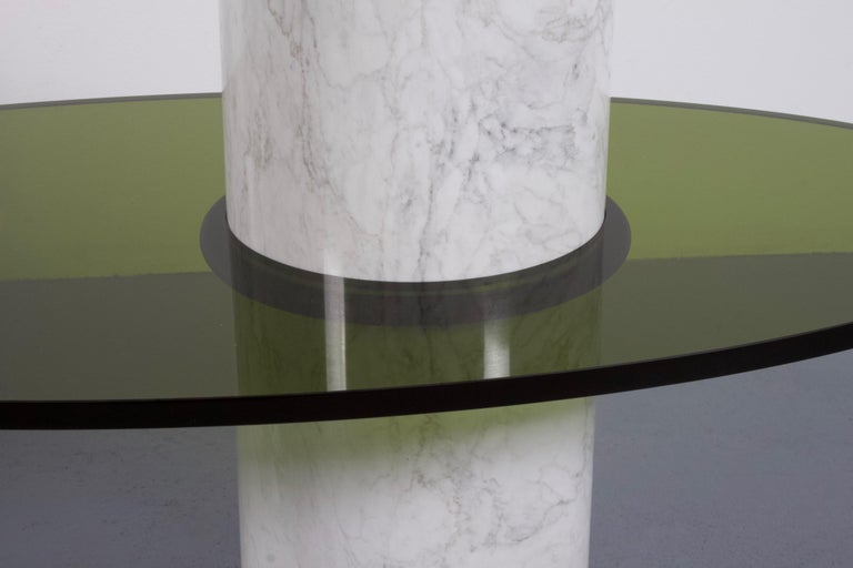 Set of Impressive Italian Lucite and Marble Tables, 1970s For Sale 1