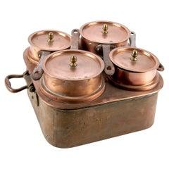 Set of Industrial Era Lewis Conger 'New York/France' Copper Pots in Boiler