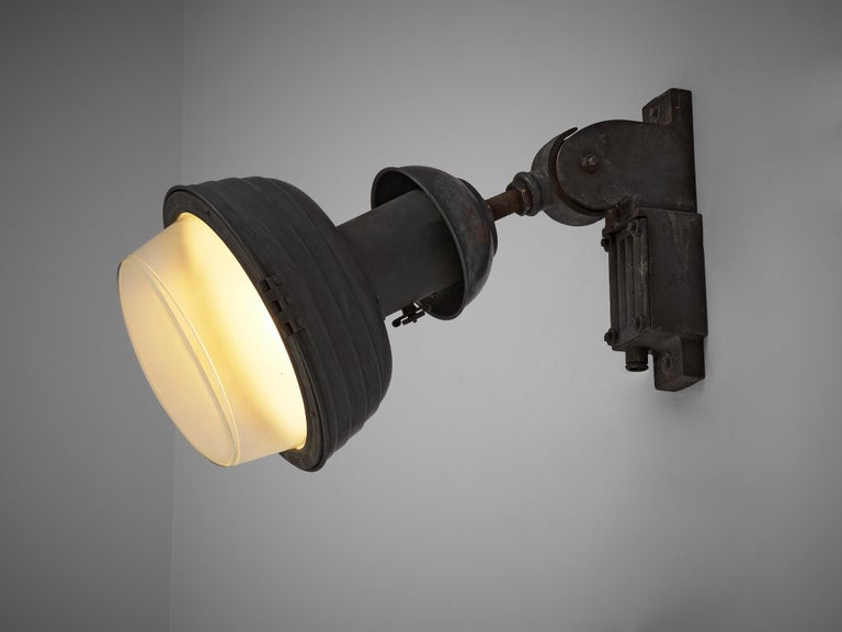 European Set of Industrial Wall Lamps For Sale