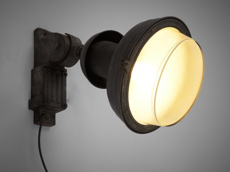 Mid-20th Century Set of Industrial Wall Lamps For Sale