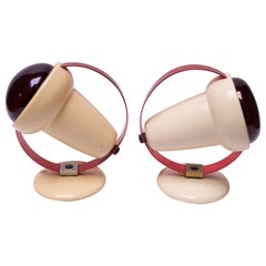 """Set of """"Infraphil"""" Heat Lamps / Sconces by Charlotte Perriand for Philips"""