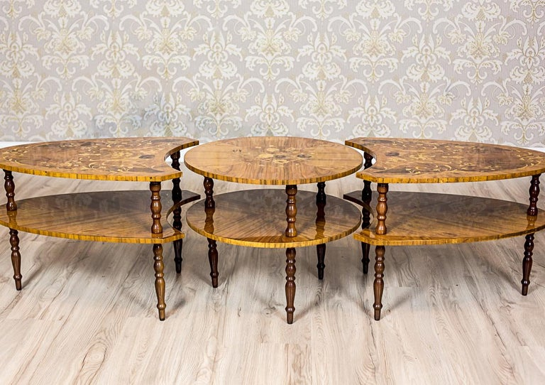 Set of Intarsiated Tables from the 1970s For Sale 5
