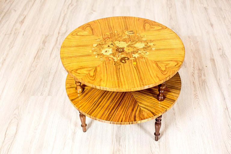 Set of Intarsiated Tables from the 1970s For Sale 6
