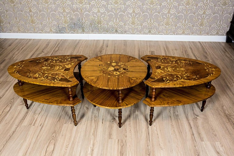 Set of Intarsiated Tables from the 1970s For Sale 7