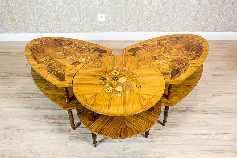 Set of Intarsiated Tables from the 1970s For Sale 2