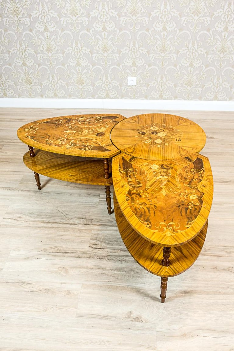 Set of Intarsiated Tables from the 1970s For Sale 3