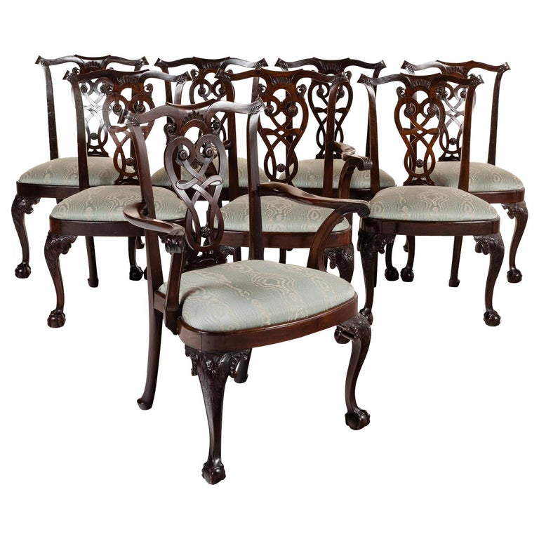 364b3c4f92473 Set of Irish Georgian Dining Chairs