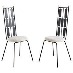 Set of Iron Accent Chairs