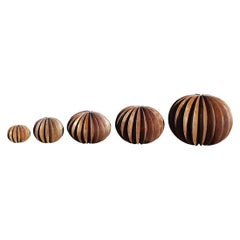 Set of Iron Ball Cactus Sculptures in Different Sizes