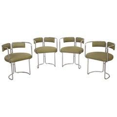 Set of Italian Chrome Dining Chairs