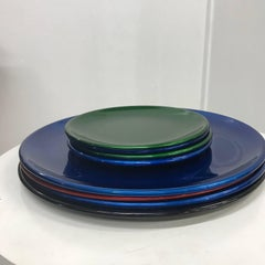 Set of Italian decorative plates by Afra E Tobia  Scarpa San Lorenzo Design