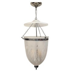 Set of Italian Etched and Frosted Glass Lanterns, Sold Individually