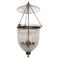 Set of Italian Etched Glass Lanterns, Sold Individually
