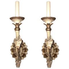 Set of Italian Wooden Sconces, Sold Per Pair