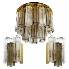 Set of J. T. Kalmar Murano Glass Light Fixtures, Austria, 1960