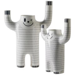 Set of Jaime Hayon Contemporary Glazed Happy Susto Vases