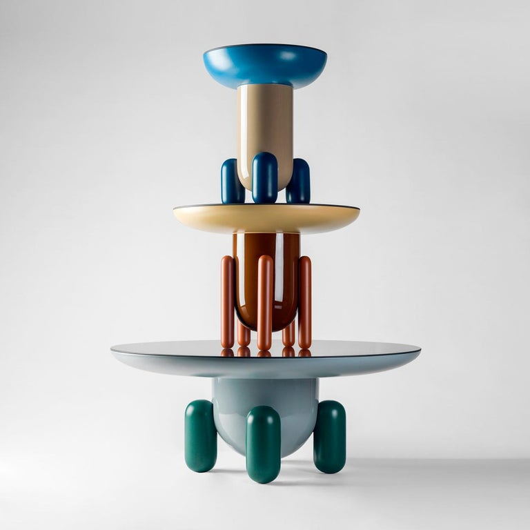 Set of Jaime Hayon Multi-Color-2 Explorer Tables by BD Barcelona For Sale 4