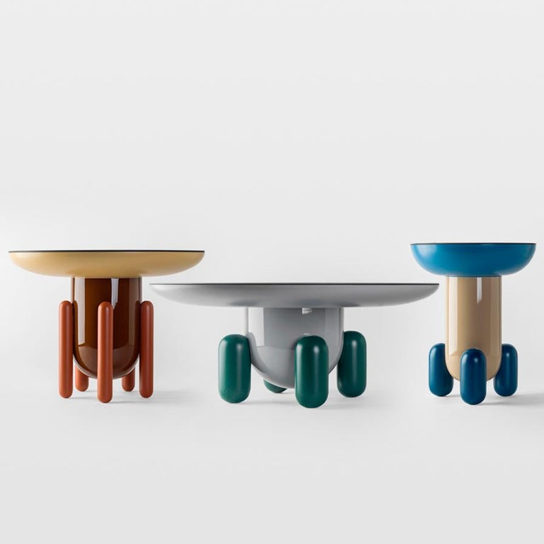 Lacquered Set of Jaime Hayon Multi-Color-2 Explorer Tables by BD Barcelona For Sale