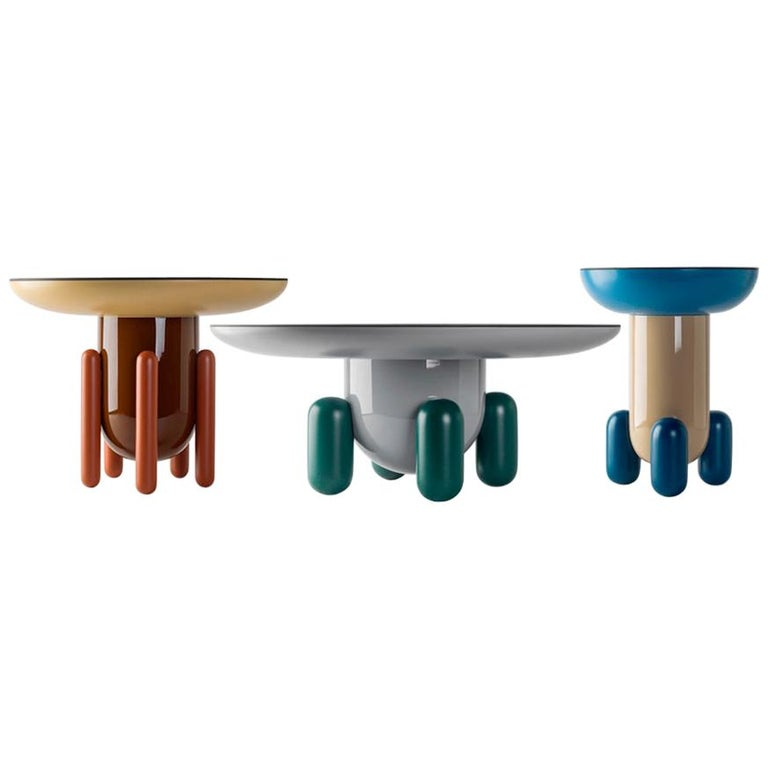 Set of Jaime Hayon Multi-Color-2 Explorer Tables by BD Barcelona For Sale