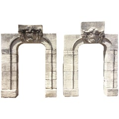 Set of Keystone Antique Entryway Arches