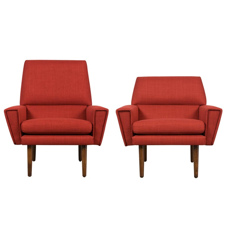 Mid-Century Modern Danish Kurt Ostervig Lounge Chairs For Sale