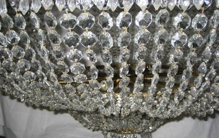 Bronze Set of Large Crystal Chandeliers, Sold Individually For Sale