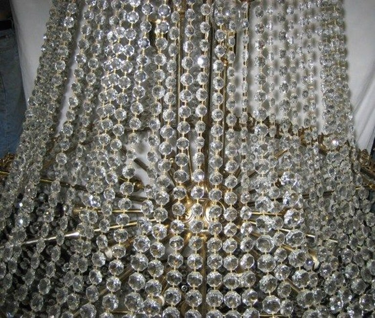Set of Large Crystal Chandeliers, Sold Individually For Sale 2