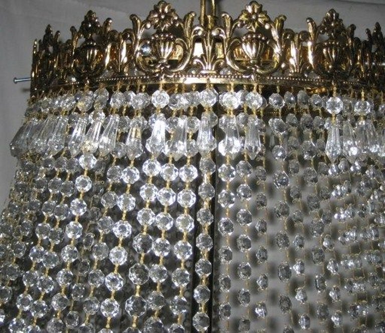 Set of Large Crystal Chandeliers, Sold Individually For Sale 3