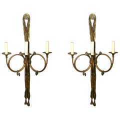 Set of Large Neoclassic Sconces, Sold Per Pair