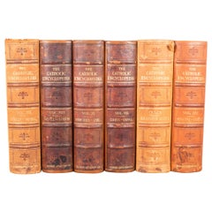 "Set of Leather Bound ""The Catholic Encyclopedia"", circa 1910-1914"