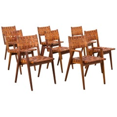 Set of Leather Strap Chairs by Mel Smilow