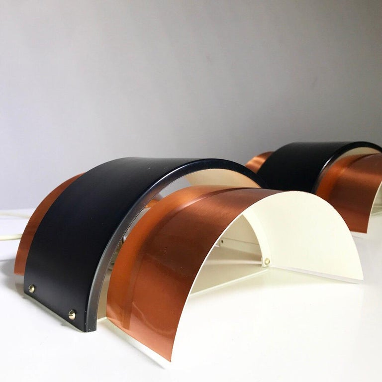 Danish Set of Limited Copper Wall Lights by Fog & Mørup, Denmark, 1960s For Sale